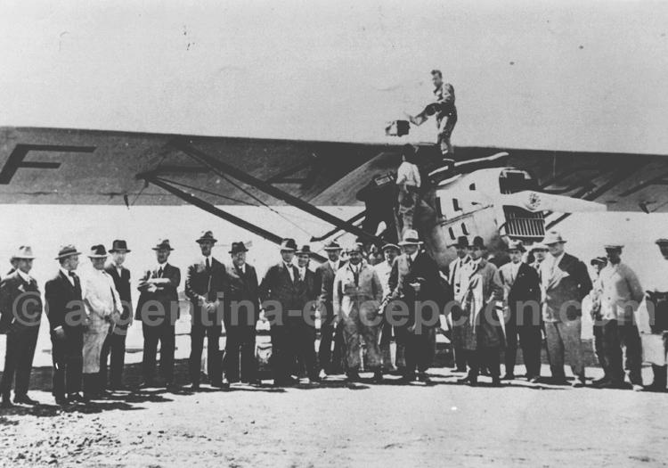 Bahía Blanca, Vachet transmet la direction à ASE 14 oct 1929 (AGN)
