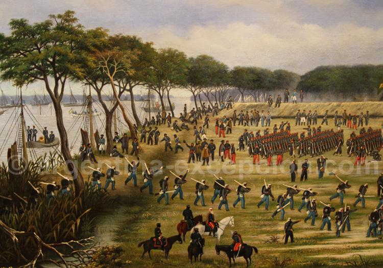 Bataille de Curuzú 1891, guerre du Paraguay, musées des Beaux Arts