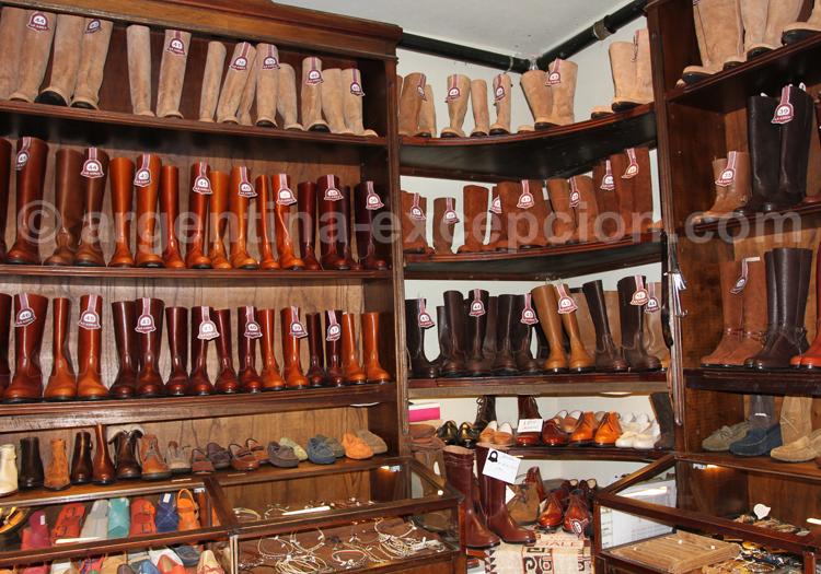 Bottes et chaussures de cuir argentin