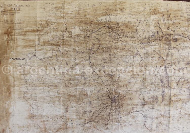 Carte des Andes, années 30