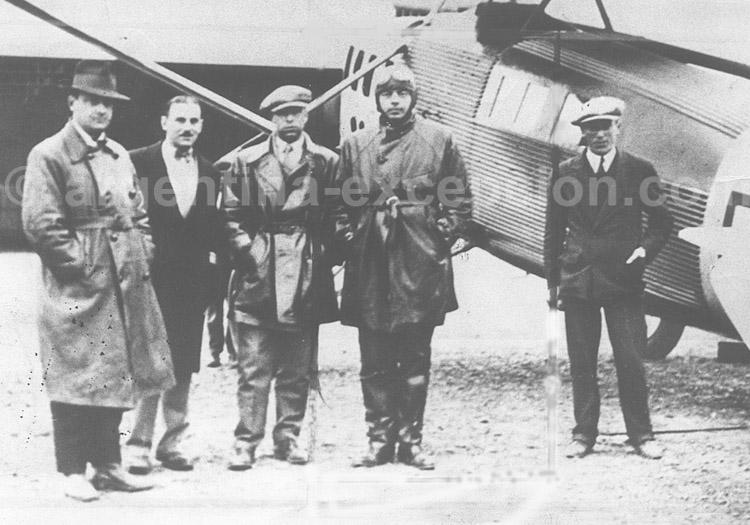 Comodoro Rivadavia, Cambaceres, Ing.Ulled-Augé, St-Ex, Rivadell, 31-oct-1929 (Colección Oscar Rimondi)