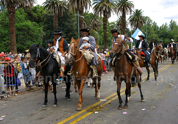 Défilé des gauchos, fête de Mendoza