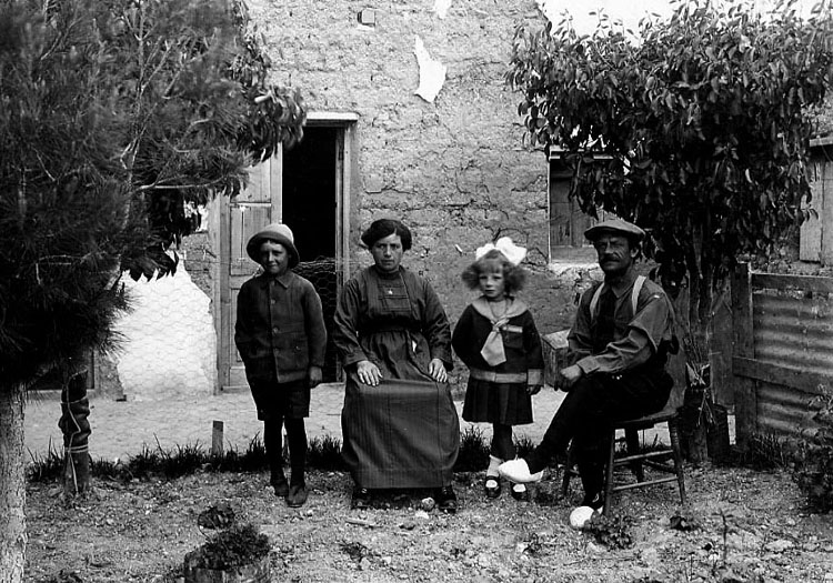 Famille d'immigrants italiens, 1926
