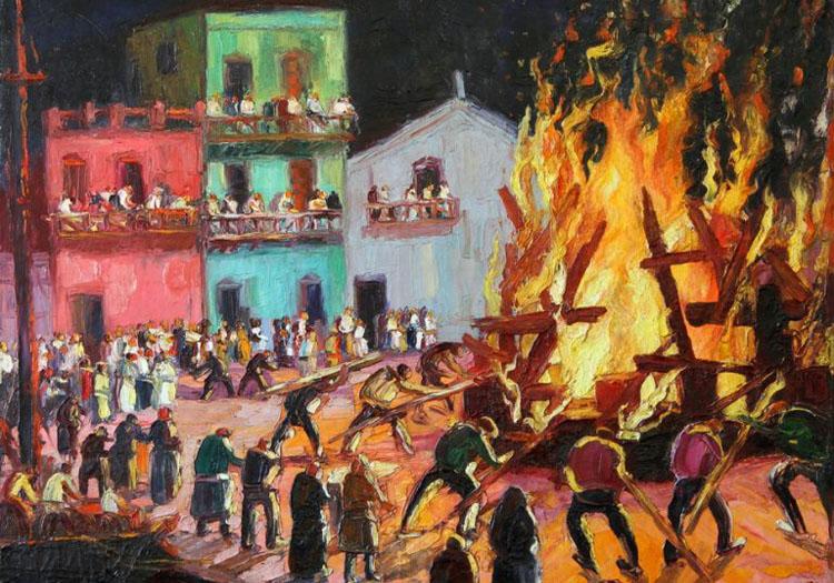Feu de la Saint-Jean, Quinquela Martín. Crédit facebook