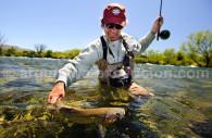 Trout fishing, estancia Tipiliuke