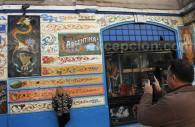 Fresque de Gardel dans le quartier Abasto