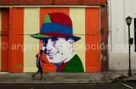 Fresque de Carlos Gardel à Buenos Aires