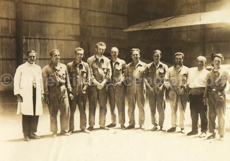 Les hommes de l'Aéropostale. Archive Gilbert William Pellaton