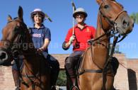 Riding polo horses
