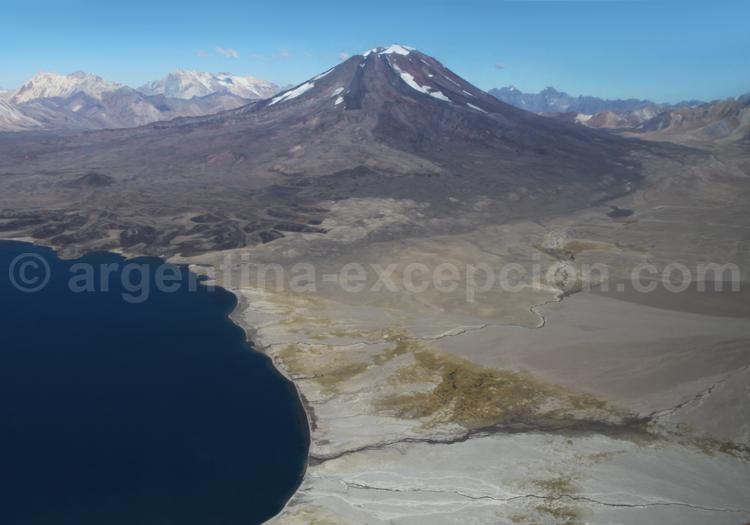 Lagune Diamante et volcan Maipó