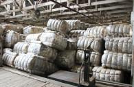 Ballots de laine entreposés Patagonie