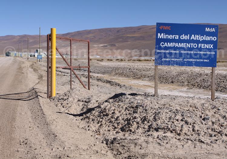 Extraction du lithium dans l'Altiplano, Noreste
