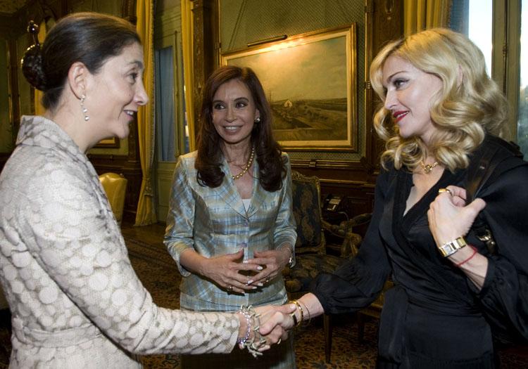 Rencontre entre Madonna, Betancourt et Kirchner
