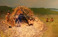 Maquette habitation yamana musée Ushuaia