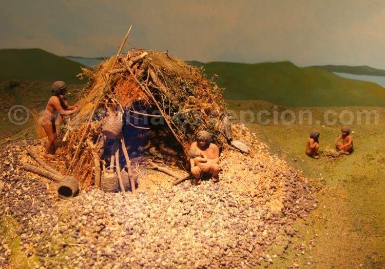 Maquette habitation yamana, musée Ushuaia