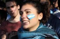 maquillage football argentine