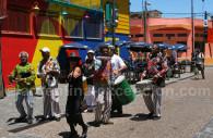 Musicos en La Boca, Buenos Aires