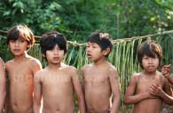 Guaranies children in Iguacu