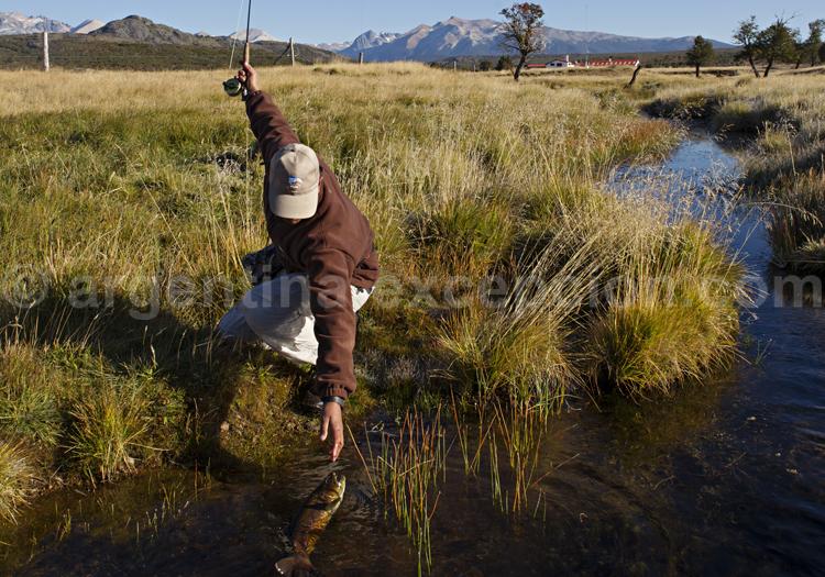 Pêche à la mouche, Lodge Tres Valles, Patagonie