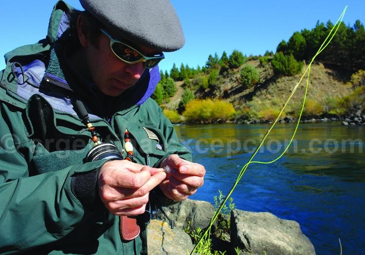 Pêche à la mouche, estancia Tipiliuke