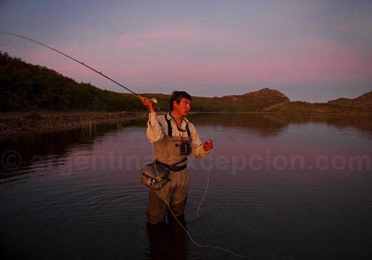 Pêche à la truite, estancia Tres Valles