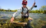 Pêche à la truite, estancia Tipiliuke