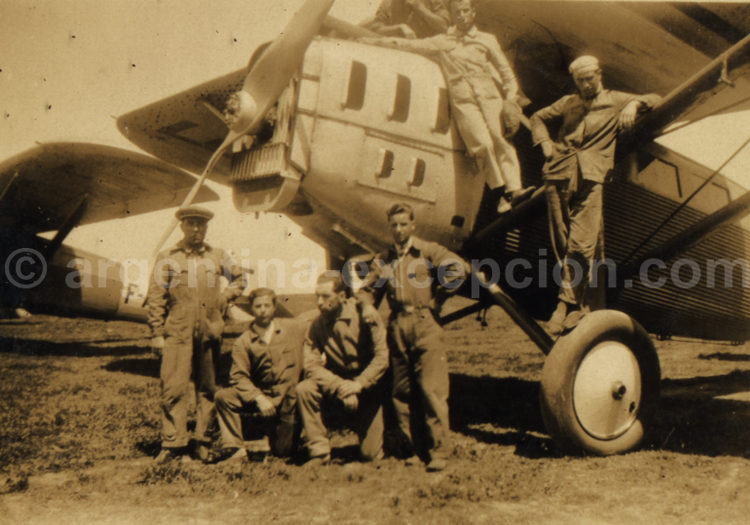 Les pilotes de l'Aéropostale. Archive Gilbert William Pellaton