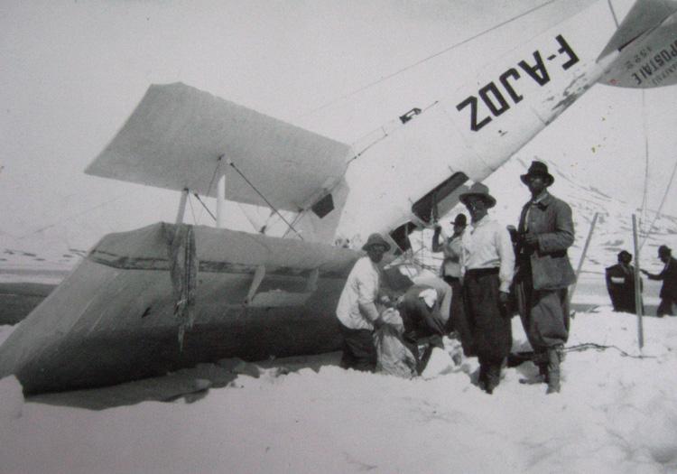 Potez 25 de Guillaumet récupéré en décembre 1931 par l'équipe de Don Pastor Lima