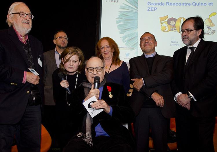 Quino fait Chevalier de la Légion d'Honneur