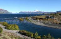 Desembocadura río Chimehuin y lago Huechulafquen
