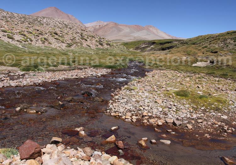 Ruisseau El Yaucha, parc Laguna Diamante