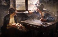 Sin pan y sin trabajo Peinture Ernesto de la Cárcova