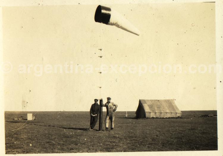 Le vent en Patagonie. Archive Gilbert Pellaton