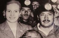 Evita avec des mineurs, musée Evita de Buenos Aires