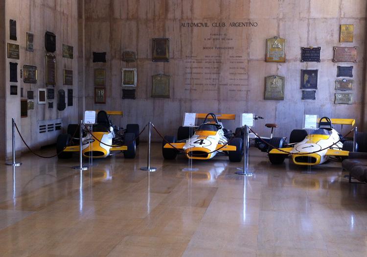 Voitures de courses de Fangio, Automobile Club Argentin