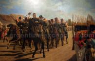 revue des troupes par le general san martin
