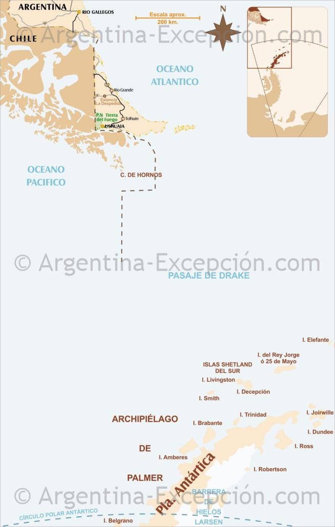 Mapa Antártida