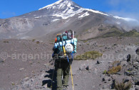 Ascensión volcán Lanín