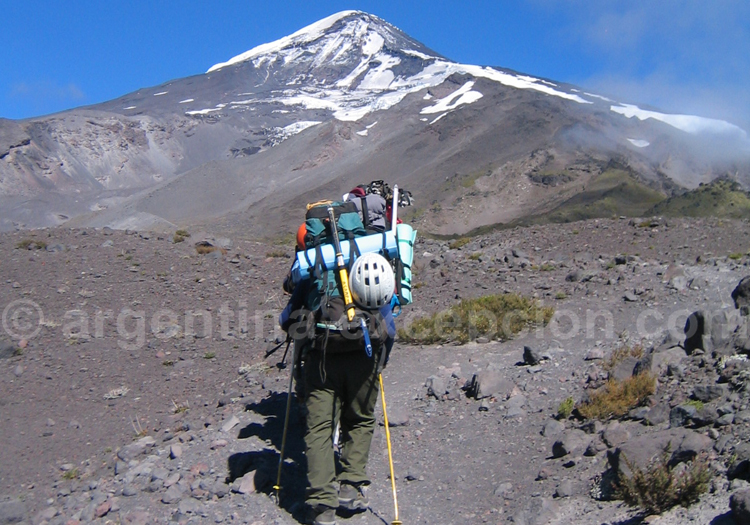 Ascension volcan Lanín