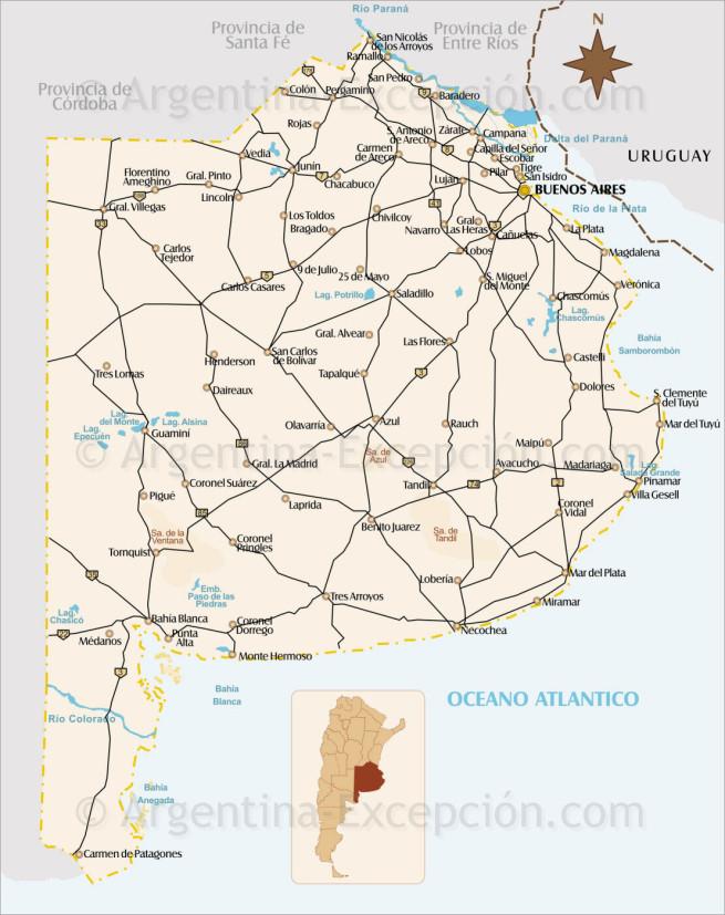 Carte de la Province de Buenos Aires
