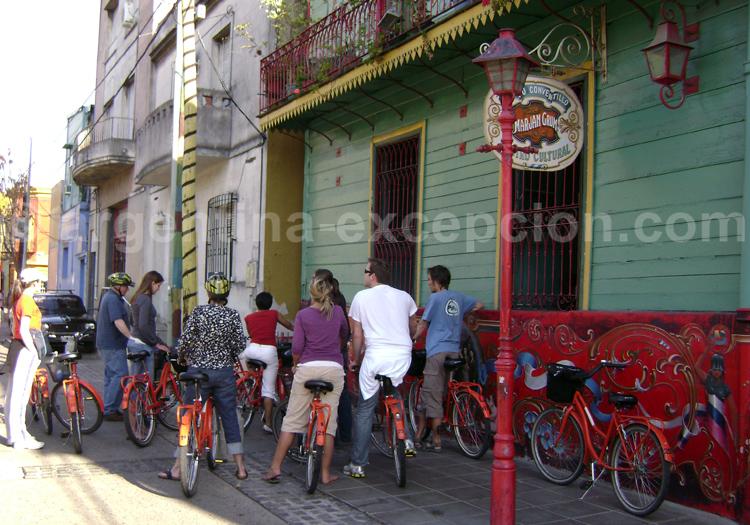 Visite de La Boca à bicyclette