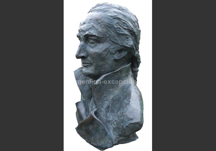 Buste de Jacques de Liniers réalisé par Constance de la Martinière