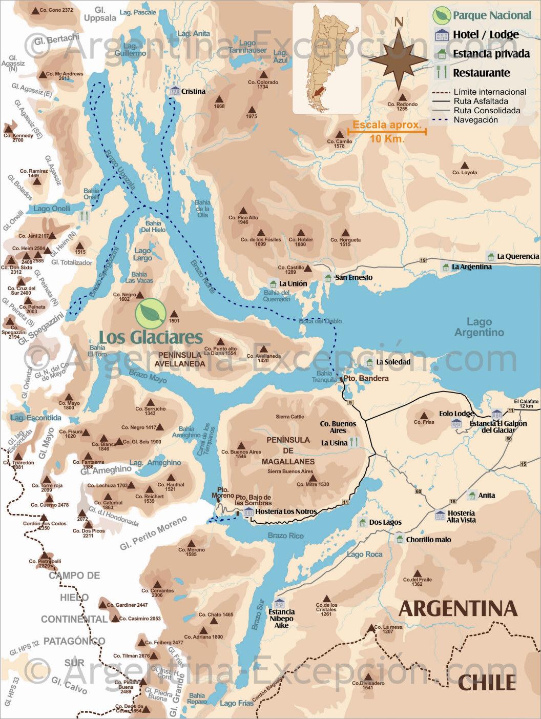 Circuito W Mapa : Circuito: trekking el chaltén fitz roy & torres del paine