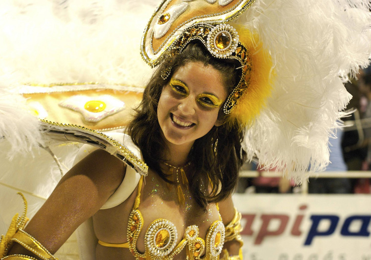 Danseuse au carnaval de Gualeguaychu