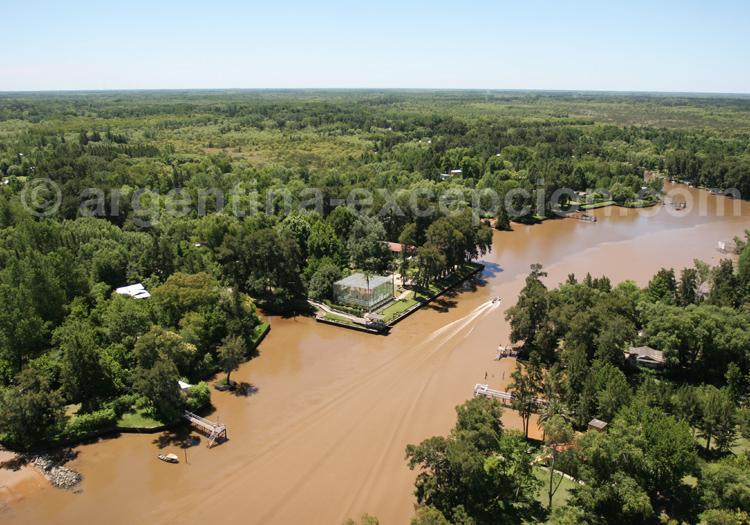 Découverte du delta de Parana en hélicoptère