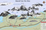 Croquis randonnées massif du Fitz Roy