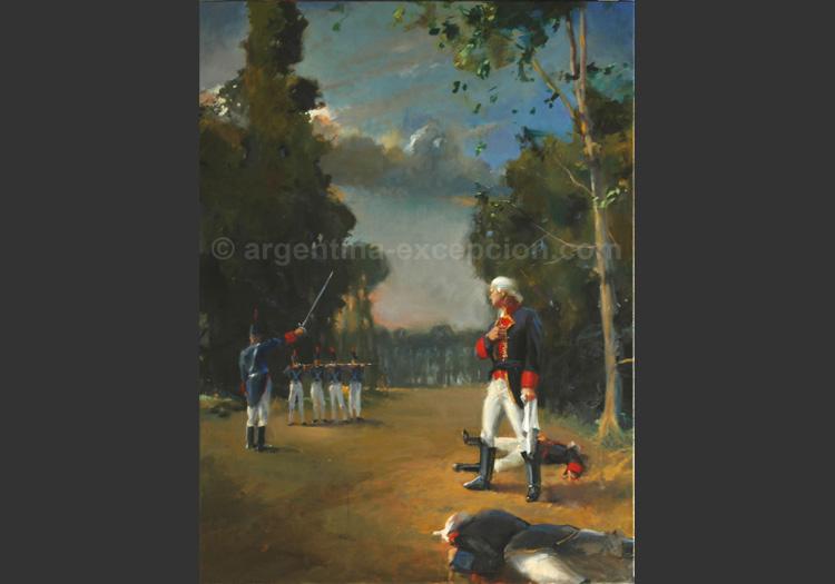 Exécution de Liniers à Cabeza del Tigre par Christophe Thiry Collection privée - Yves Bouessel du Bourg