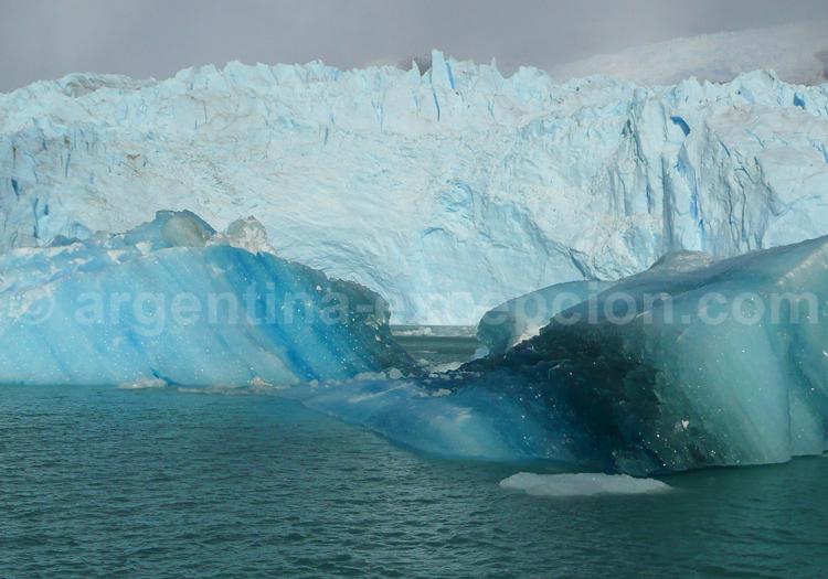 Blocs de glace, lac Argentino