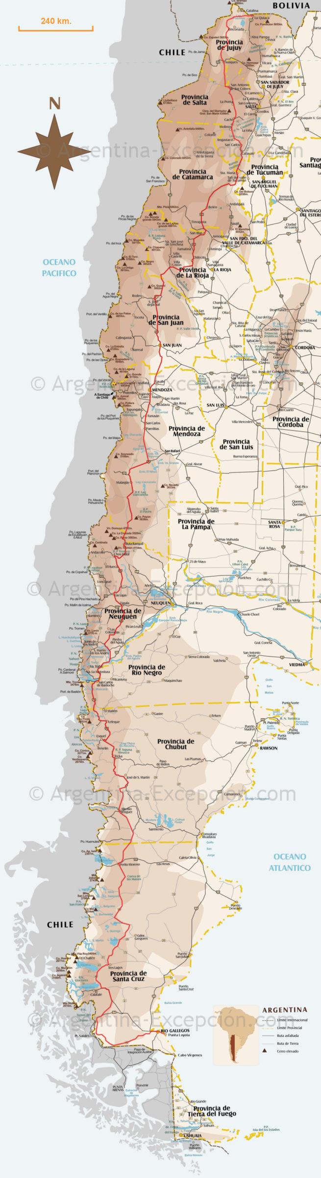 Carte route 40