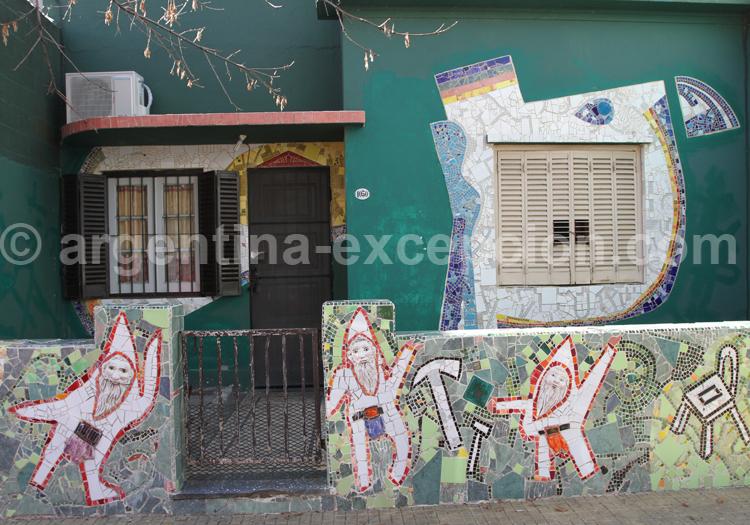 Mosaïques, quartier Barracas
